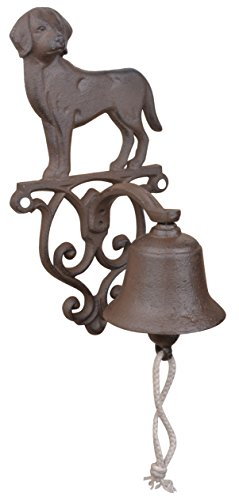 - Esschert Design Rustic Cast Iron DB83 Doorbell Dog