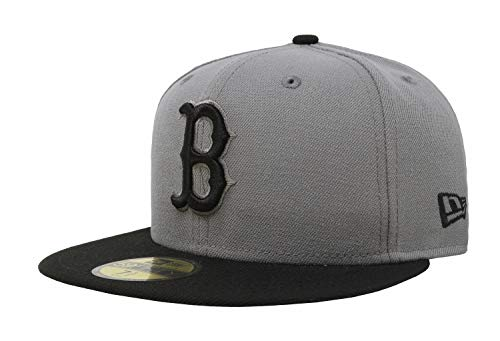 (New Era 59Fifty MLB Basic Boston Red Sox Fitted Gray/Black Headwear Cap (7)
