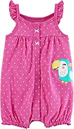 Baby Girls Snap-Up Cotton Romper