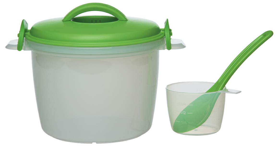 Prep Solutions by Progressive Rice Cooker, 4 Piece Set - 6 Cup Capacity