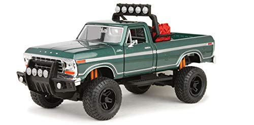 BDCAT MOTORMAX 79138 Off Road Custom 1979 Ford F-150 Pick up Truck 1:24 DIECAST Green