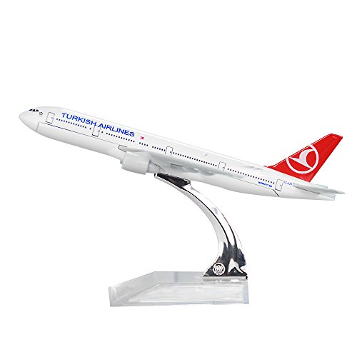 Turkish Airlines Boeing 777 300 Alloy Metal Plane Airplane Model