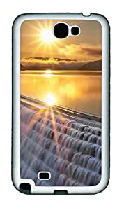 Samsung Note 2 Case Landscapes sunset 7 TPU Custom Samsung Note 2 Case Cover White