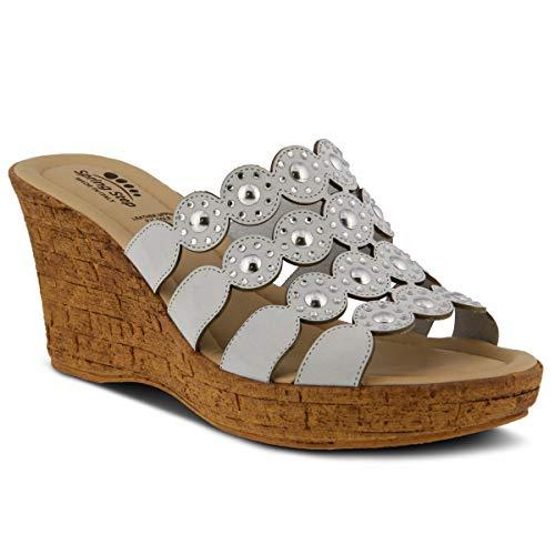 Spring Step Women's Alisma Nubuck Slide Sandal White