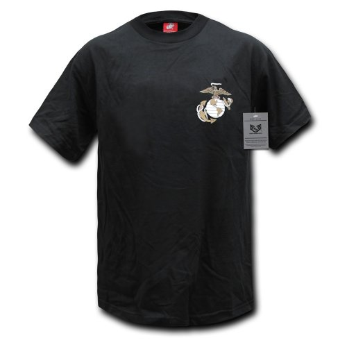 Rapiddominance Marines Basic Military Tee, Black, X-Large