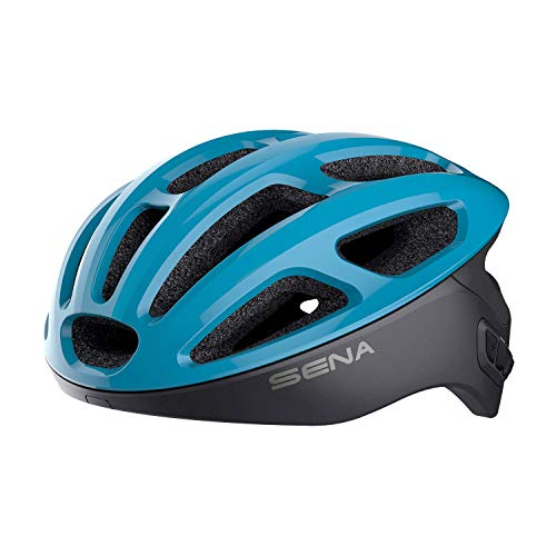 Sena Unisex-Adult Smart Cycling Helmet (Ice Blue, Medium)