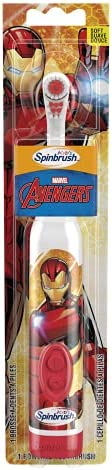 Spinbrush Battery Powered Toothbrush, Marvel Heroes, Super hero may vary