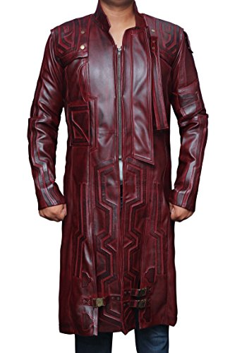 Star Lord Galaxy 2 Movie Red Trench Coat for Father M