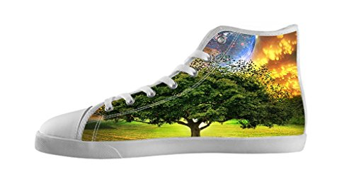 Dalliy Tree of Life Baum des Lebens Mens Canvas shoes Schuhe Lace-up High-top Sneakers Segeltuchschuhe Leinwand-Schuh-Turnschuhe E
