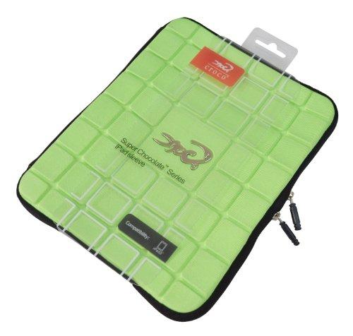 Croco CAS2334 Super Chocolate Schutzhülle für iPad 1 / 2 / 3 / 4, Grün / Schokoladentafel-Optik