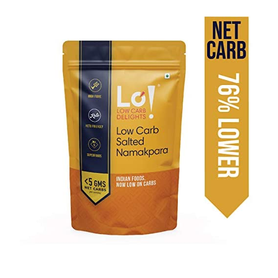 Lo! Foods - Salted Namakpara   Low Carb Keto Snacks   Lab Tested Keto Food Products for Keto Diet   Nutritious Keto namkeen - 190 g