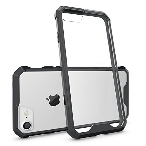 TNP iPhone 7 Case (Black) - Air Hybrid Protective Case Ultra Slim Clear Hard PC Back Panel TPU Bumper Anti-Scratch Shockproof Hybrid Drop Protection Cover for Apple iPhone 7 2016 - Australia Package Ship To