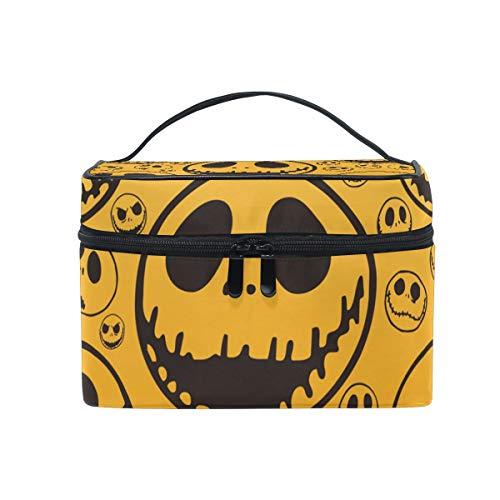 (TIKISMILE Jack Skellington Cosmetic Bag Carrying Portable Zip Travel Makeup toiletry Bag for)