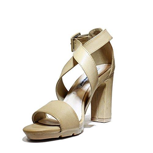 FRANCESCO MILANO L229P zapatos de las sandalias del talón, tacón alto, nueva colección de verano 2016 MUELLE DE PIEL CUERO