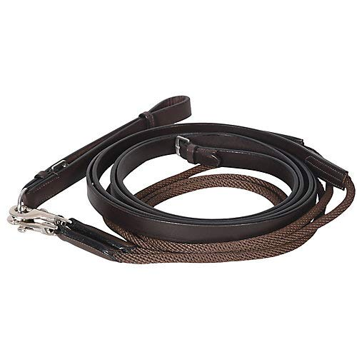 Henri de Rivel Draw Reins - Rounded Nylon/Leather Sna