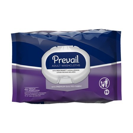 Prevail Quilted Cleansing Wipes, 8 x 12 in., Case/576 (12/48s)