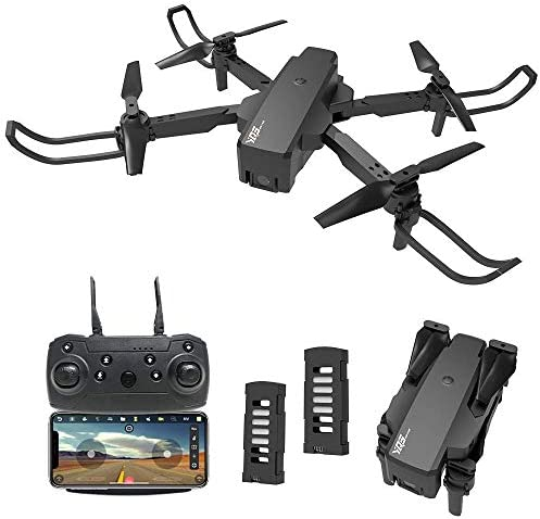 le-ideaIDEA18 Drones with Camera for Adults 2K HD, Optical Flow Positioning RC Quadcopter, Foldable FPV Mini Drone Live Video 3D Flip Gesture Control, Toy Gifts for Kids and Beginners, 2 Batteries