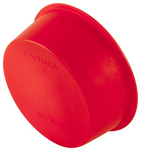 Caplugs Z2551AK1 Plastic Tapered Cap and Plug. T-255, PE-LD, Cap OD 1.569'' Plug ID 1.75'', Red (Pack of 20) by Caplugs