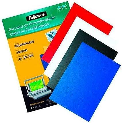 GBC ESP425514 - Portada de encuadernación PP POLYCOVER opaca 500 micras DIN A3 (Pack 100) color negro: Amazon.es: Oficina y papelería
