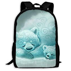 High-Capacity Unisex Adult Backpack Paint Drizzly Bear Bookbag Travel Bag Schoolbags Laptop Bag