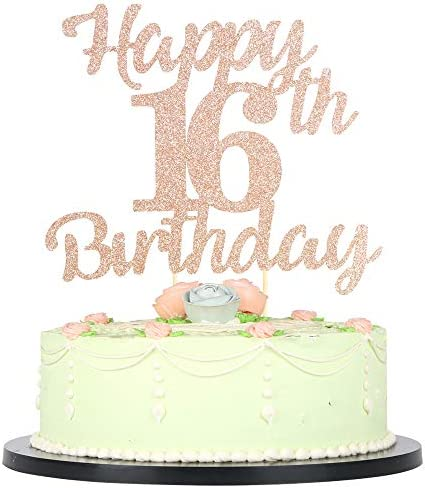 birthday cake topper custom cake topper 16bday 16 cake topper birthday decorations Sweet 16 cake topper personalized cake topper