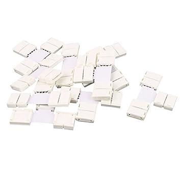 eDealMax T Tipo 3Way 2P Conector para un solo color RGB 3528 5050 PCB tira llevada lámpara 10pcs - - Amazon.com