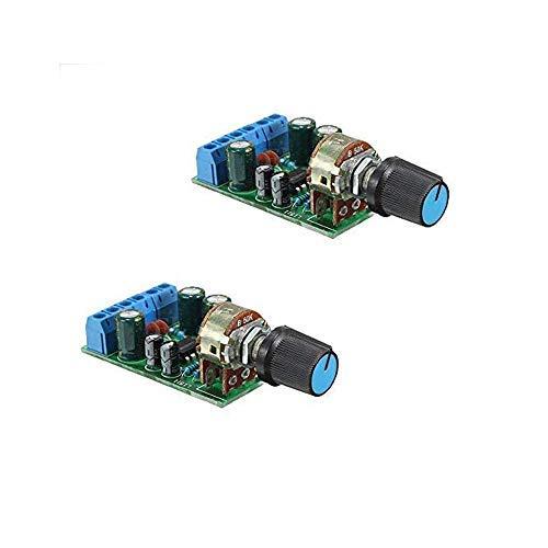 Ximimark DC 1.8-12V TDA2822M Audio Amplifier Board 2.0 Channel Stereo Amp 3.5mm AUX Audio Amplifier Module 2Pcs