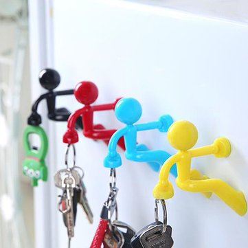 - Key Holder Hooks - Magnetic Hook Holder - HH-01 Anti Lost Key Magnet Holder Hook with Wall Climbing Man Design Strong Magnet for Refrigerator Fridge - Yellow (Key Holder Magnetic Hooks)