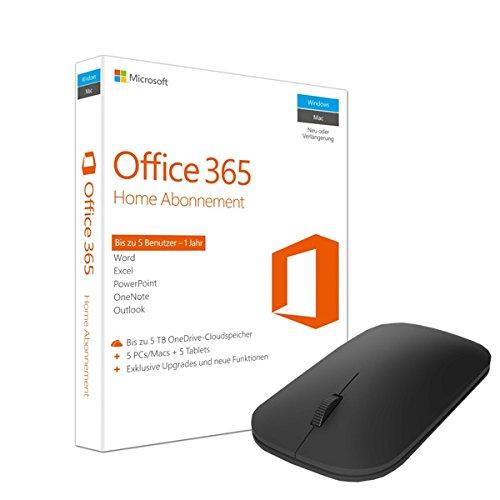 Microsoft Office 365 Home 5PCs/MACs - 1 Jahresabonnement + Microsoft Designer Bluetooth Mouse