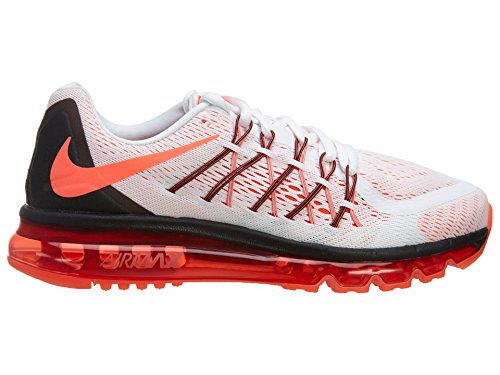 Nike Womens Air Max 2015 Bianco / Rosa Poe / Nero Scarpa Da Corsa Bianco / Rosa Pow-nero