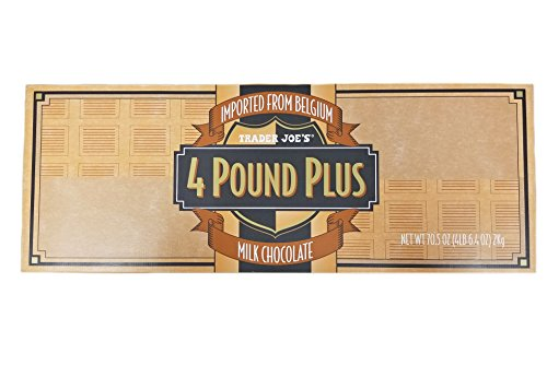 TJ's 4 Pound Plus ENORMOUS Belgian Milk Chocolate Bar (Holiday Size) - 4 Lbs 6.4 oz (2kg)