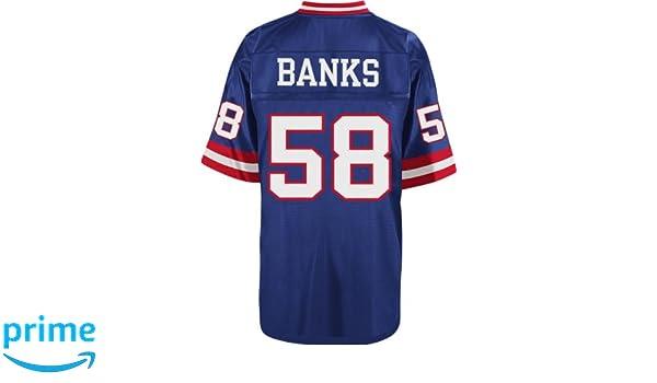 ... Amazon.com Carl Banks New York Giants NFL Mitchell Ness Throwback  Premier Jersey - Blue ... b30dd8241
