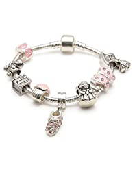 Liberty Charms Children's 'Little Angel' Silver Plated Charm Bead Bracelet. Gift Boxed. 15cm suitable for 2-4 years