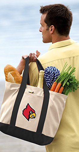- Broad Bay Louisville Cardinals Tote Bag or Official Canvas University of Louisville Totes