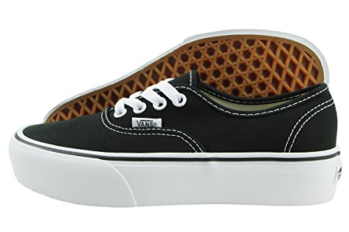 Vans Authentic Platform, Black / White, 7.5 M US Men / 9 M US Women