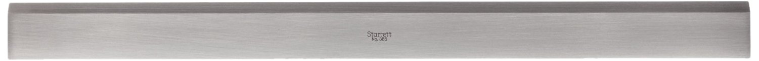 Starrett 385-48 Steel Straight Edge With Bevel, 48'' Length, 2-13/32'' Width, 7/32'' Thickness