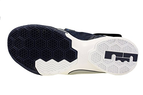 Nike Lebron Soldier Silver Metallic Sportive Scarpe White Uomo Midnight Navy Blue Photo IX rrqwTdO6