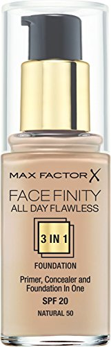 Max Factor Facefinity All Day Flawless 3 in 1 Foundation (SPF20) - 50 Natural
