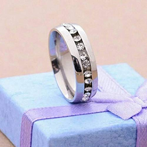 7 Tanakorn New Single Row Zircon Ring Stainless Steel Finger Rings Women Fine Jewelry Wholesale Classical
