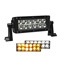 KAWELL® Off Road 36W White and Amber Spot and Flood Combo Beam Off Road LED Light Bar-suitable for Off-road Vehicle/ATVs/SUV/Truck etc.