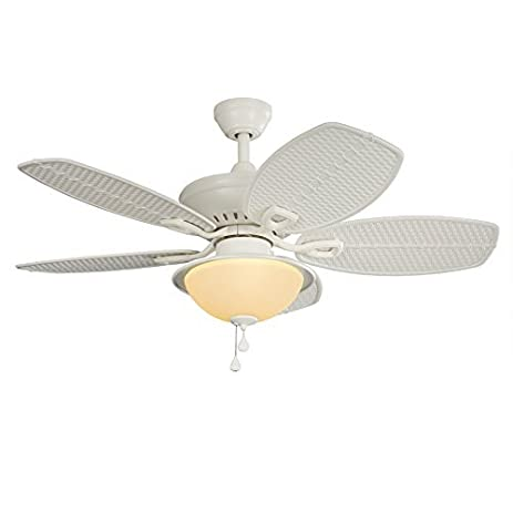 Cedar Shoals 44-in White Indoor/Outdoor Downrod Or Close Mount Ceiling Fan with  sc 1 st  Amazon.com & Cedar Shoals 44-in White Indoor/Outdoor Downrod Or Close Mount ...