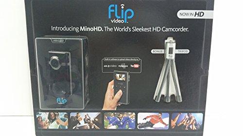 Flip MinoHD Video Camera - Black, 4 GB, 1 Hour w/ Bonus Tripod