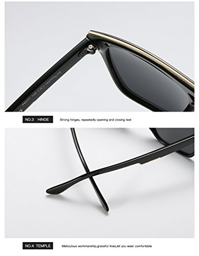 UV Aviator Protección 400 Polarizadas Sol C1 De Gafas para Hombre Mujer para C2 xwfCc