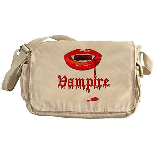 Royal Lion Khaki Messenger Bag Vampire Fangs Dracula