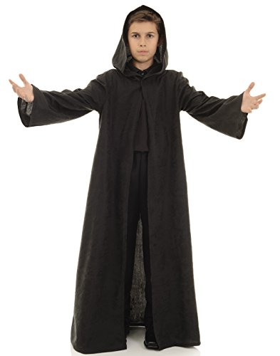 Underwraps Big Boy's Children's Cloak Costume Accessory, Black, Small Childrens Costume, Black, Small -