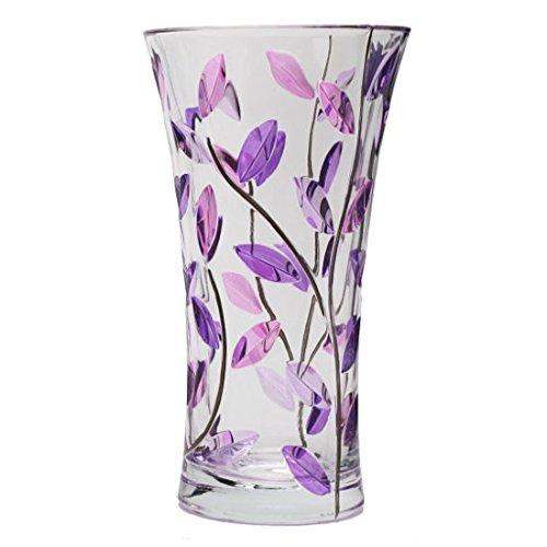 ZECCHIN ガラス製花瓶「LAURUS H25」 イタリア製フラワーベース (バイオレット) B0721WGR9T バイオレット バイオレット