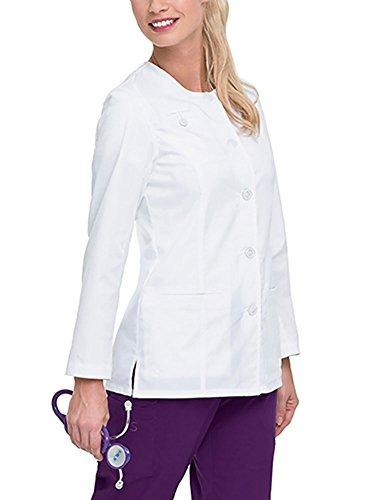 - Landau Women's 3-Welt Pockets Stretch Jacket, White, X-Large