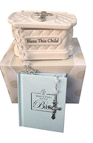 Catholic Rosary Beads Christening Gift Set ()
