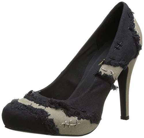 Ellie Shoes Women's 400 Muerta Platform Pump, Black, 10 M US