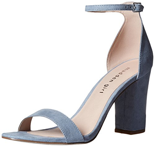 Strap Blue Sandals - Madden Girl Women's Beella Dress Sandal, Light Blue, 7 M US